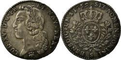 World Coins - Coin, France, Louis XV, 1/5 Écu au bandeau, 24 Sols, 1/5 ECU, 1759, Reims