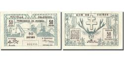 World Coins - Banknote, New Caledonia, 50 Centimes, 1943, 1943-03-29, KM:54, EF(40-45)