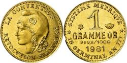 World Coins - France, Medal, Révolution, 1 Gramme d'or Germinal, History, 1981, , Gold