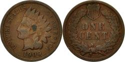 Us Coins - Coin, United States, Indian Head Cent, Cent, 1909, U.S. Mint, Philadelphia
