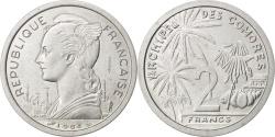 World Coins - COMOROS, 2 Francs, 1964, Paris, KM #E2, , Aluminium, Lecompte #34, 2.18