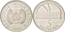 World Coins - Mozambique, 5 Meticais, 2006, , Nickel plated steel, KM:139