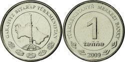 World Coins - Coin, Turkmanistan, Tenge, 2009, , Nickel plated steel, KM:95