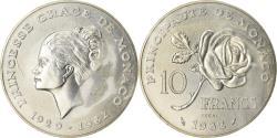 World Coins - Coin, Monaco, Grace de Monaco, 10 Francs, 1982, Pessac, ESSAI,