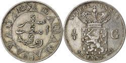 World Coins - Coin, NETHERLANDS EAST INDIES, Wilhelmina I, 1/4 Gulden, 1882, Utrecht