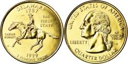 Us Coins - Coin, United States, Delaware, Quarter, 1999, U.S. Mint, Denver, gold-plated