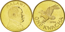 World Coins - MALAWI, Kwacha, 1996, KM #28, , Brass Plated Steel, 26, 8.92