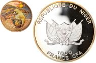 World Coins - Coin, Niger, Baboon, 1000 Francs CFA, 2013, Proof, , Silver