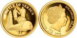 World Coins - Coin, Solomon Islands, Elizabeth II, Battle of Verdun, Dollar, 2016,