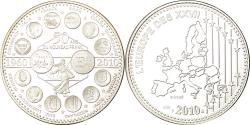 World Coins - France, Medal, L'Europe des XXVII, 50 ans du nouveau Franc, 2010,