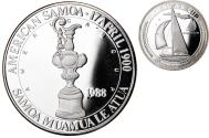 World Coins - Coin, AMERICAN SAMOA, 5 Silver Oz, 25 Dollars, 1988, Phillips, Proof,