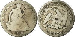 Us Coins - Coin, United States, Seated Liberty Half Dollar, Half Dollar, 1868, U.S. Mint