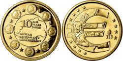 Ancient Coins - Vatican, Medal, 10 ans de l'Euro, 2009, , Gold