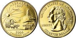 Us Coins - Coin, United States, Nebraska, Quarter, 2006, U.S. Mint, Philadelphia, golden