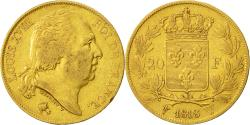 World Coins - Coin, France, Louis XVIII, 20 Francs, 1818, Lille, VF(30-35), Gold, KM 712.9
