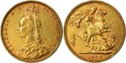 World Coins - Coin, Australia, Victoria, Sovereign, 1888, Melbourne, , Gold, KM:10