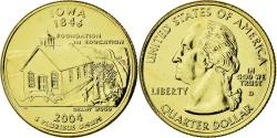 Us Coins - Coin, United States, Iowa, Quarter, 2004, U.S. Mint, , Gold plated