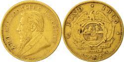 World Coins - Coin, South Africa, 1/2 Pond, 1895, Pretoria, EF(40-45), Gold, KM:9.2