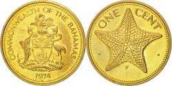 World Coins - BAHAMAS, Cent, 1974, Franklin Mint, KM #59, , Brass, 19.05, 3.05