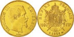 Ancient Coins - Coin, France, Napoleon III, 100 Francs, 1856, Paris, EF(40-45), Gold, KM 786.1