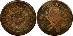 World Coins - Coin, Guadeloupe, 3 Sols 9 Deniers, 1767, Paris, , Bronze, KM:1