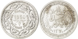 World Coins - TUNISIA, 10 Francs, 1950, Paris, KM #1, , Silver, Lecompte #348, 10.07