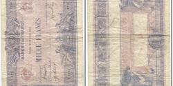 World Coins - France, 1000 Francs, Bleu et Rose, 1889, 1919-07-19, VG(8-10) Fay:36.34, KM:67h