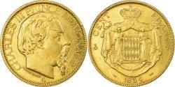 World Coins - Coin, Monaco, Charles III, 100 Francs, 1884, Paris, , Gold, KM 99