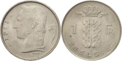 World Coins - Belgium, Franc, 1973, AU(50-53), Copper-nickel, KM:142.1