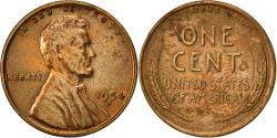 Us Coins - United States, Lincoln Cent, Cent, 1954, U.S. Mint, Denver, , Brass
