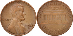 Us Coins - United States, Lincoln Cent, 1968, Denver, , Brass, KM:201