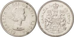World Coins - Canada, Elizabeth II, 50 Cents, 1963, Ottawa, , Silver, KM:56