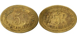 World Coins - France, 5 Francs, , Brass, Elie #30.7, 2.00
