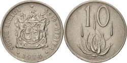 World Coins - South Africa, 10 Cents, 1974, , Nickel, KM:85