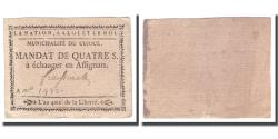 World Coins - France, 4 Sols, Undated (1791-92), CUJOUL, AU(50-53)