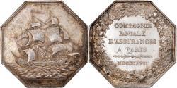 World Coins - France, Token, Paris, Compagnie royale d'Assurances, 1817, Andrieu,