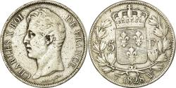 World Coins - Coin, France, Charles X, 5 Francs, 1828, Lille, , Silver, KM:728.13