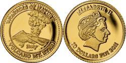 World Coins - Coin, Fiji, Elizabeth II, Volcan Etna - Italie, 10 Dollars, 2011,