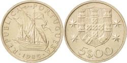 World Coins - PORTUGAL, 5 Escudos, 1985, KM #591, , Copper-Nickel, 24.5, 6.85
