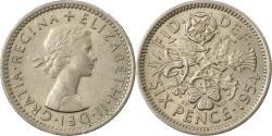 World Coins - Coin, Great Britain, Elizabeth II, 6 Pence, 1958, , Copper-nickel