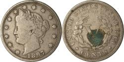 Us Coins - Coin, United States, Liberty Nickel, 5 Cents, 1897, U.S. Mint, Philadelphia