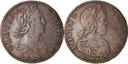 World Coins - France, Token, Royal, Bustes Louis XIII et Louis XIV, 1644, , Copper