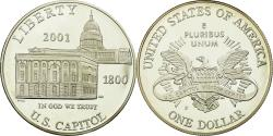 Us Coins - Coin, United States, Dollar, 2001, U.S. Mint, Philadelphia, Proof,