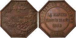 World Coins - France, Token, Insurance, Assurances Maritimes, Hâvre, La Manche, 1862