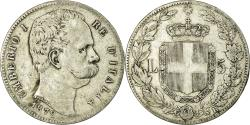 World Coins - Coin, Italy, Umberto I, 5 Lire, 1879, Rome, , Silver, KM:20