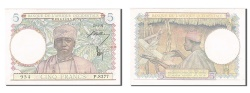 World Coins - French West Africa, 5 Francs, 1942, KM #25, 1942-04-22, UNC(63), P8377