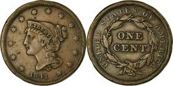 Us Coins - Coin, United States, Braided Hair Cent, Cent, 1841, U.S. Mint, Philadelphia