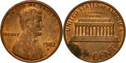 Us Coins - Coin, United States, Lincoln Cent, Cent, 1982, U.S. Mint, Denver,