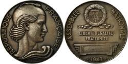 World Coins - France, Medal, Assemblée Nationale, P.Gavelle, Sténographe, 1941, Baron