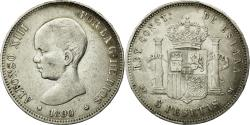World Coins - Coin, Spain, Alfonso XIII, 5 Pesetas, 1890, Madrid, EF(40-45), Silver, KM:689